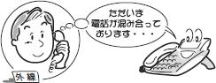 着信お待たせメッセージの利用例のイメージ